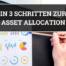 In 3 Schritten zur Asset Allocation Blogbanner