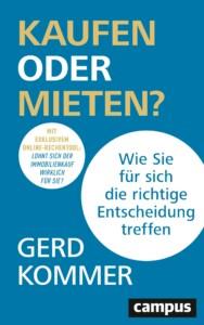 Gerd Kommer - Kaufen oder Mieten? Buchcover